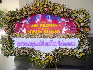 bunga papan pernikahan mewah