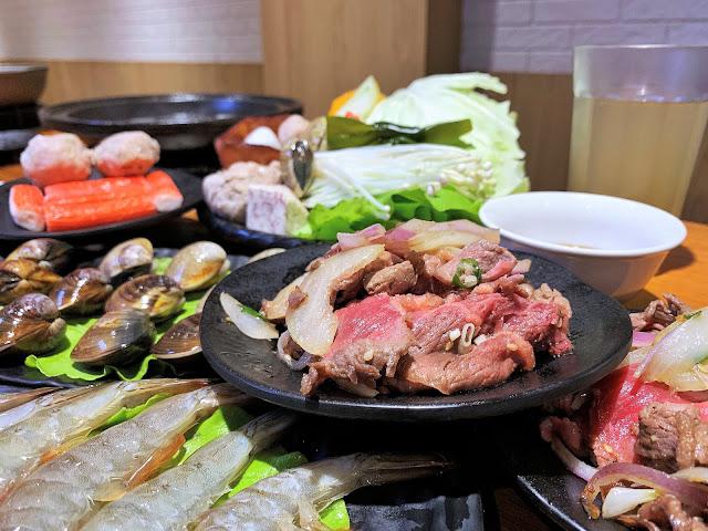 原石鍋爆炒鮮肉