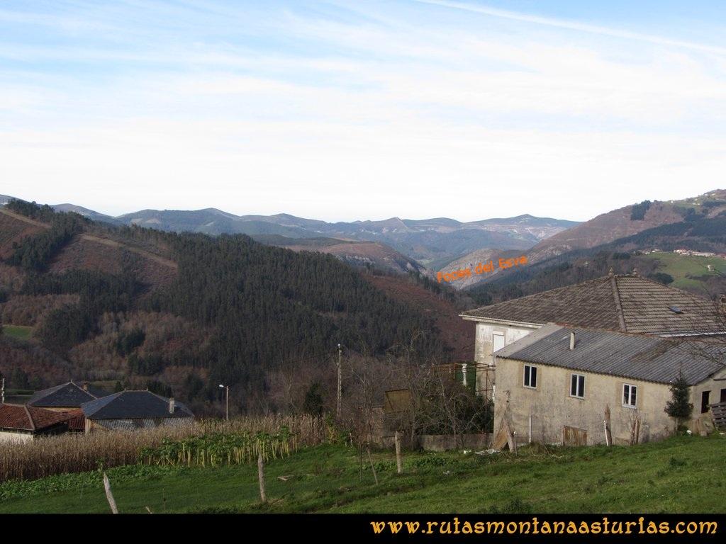 Senda de Bustavil, Tineo, PR AS-288: Vista de las Foces del Esva desde Bustellón