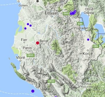 Two earthquakes hit Southern Albania