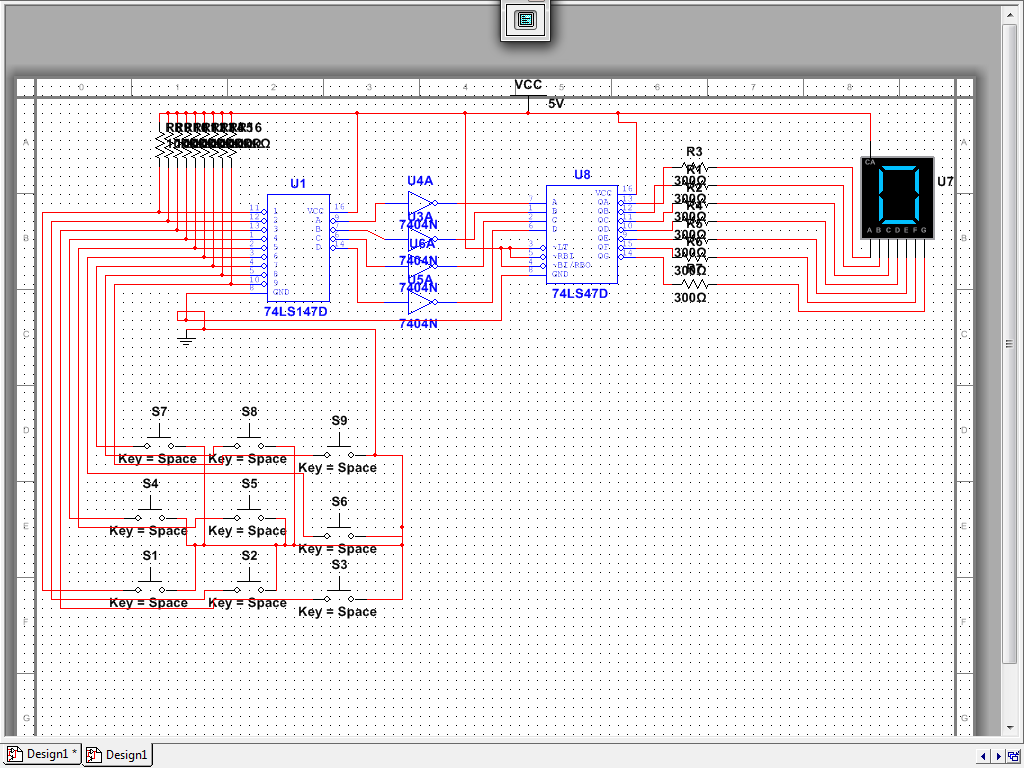 7 Segment Display Electronic Engineer 7segdriverinverterwiringdiagramjpg Multisim Circuit Diagram
