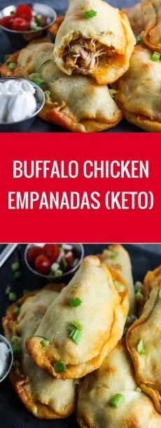 BUFFALO CHICKEN EMPANADAS (KETO)