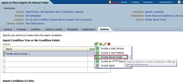 OBIEE 11g: Saving an OBIEE report on a Folder via Agent