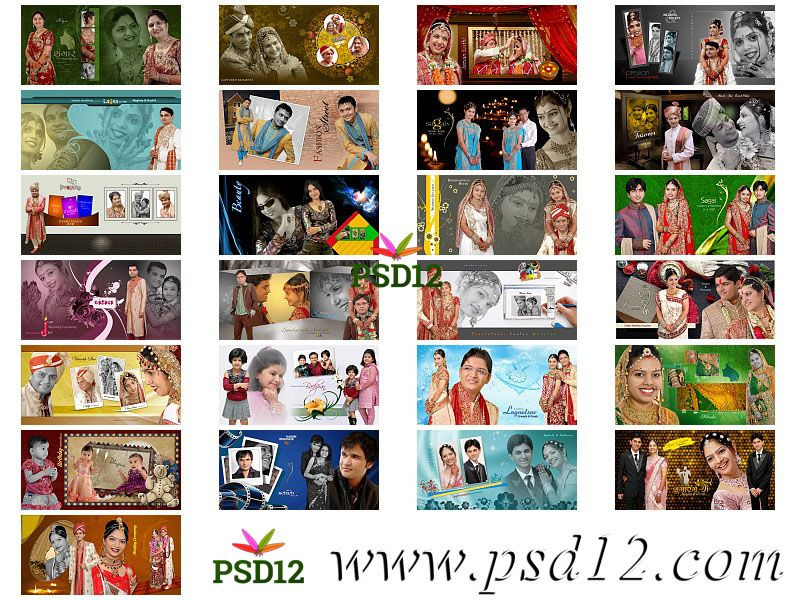 50 12x24 New Wedding Album Psd Files 2019 Photoshop Backgrounds