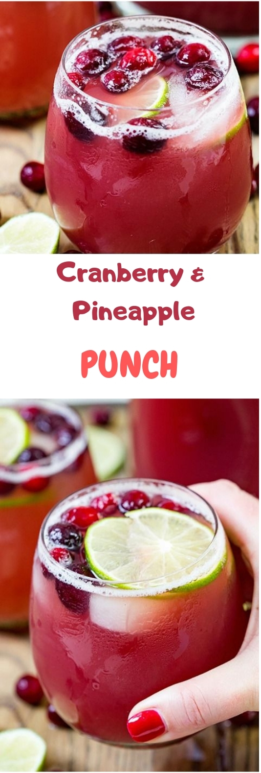 Cranberry Pineapple Punch #punch #nonalcohol