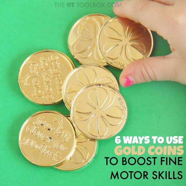 Kids will love these six fine motor activities that use coins!