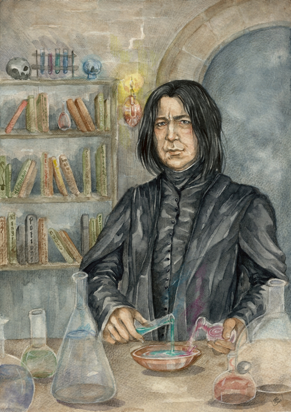 In Honor of Alan Rickman: 15 Stunning Severus Snape Fan Art