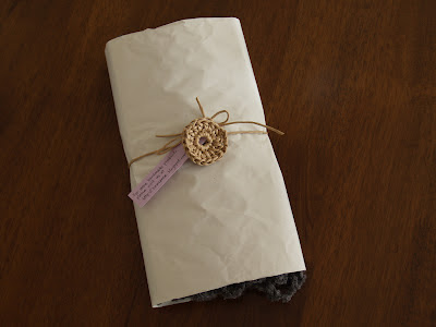 DIY gift wrap with recycle materials