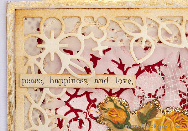 Layers of ink - Vintage Valentine's Card Tutorial by Anna-Karin Evaldsson. Layer card elements.