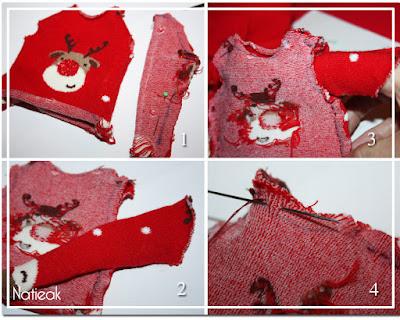 tutoriel de pull de Noël pour Barbie
