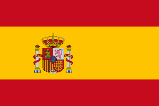 Bandera de España vista de frente