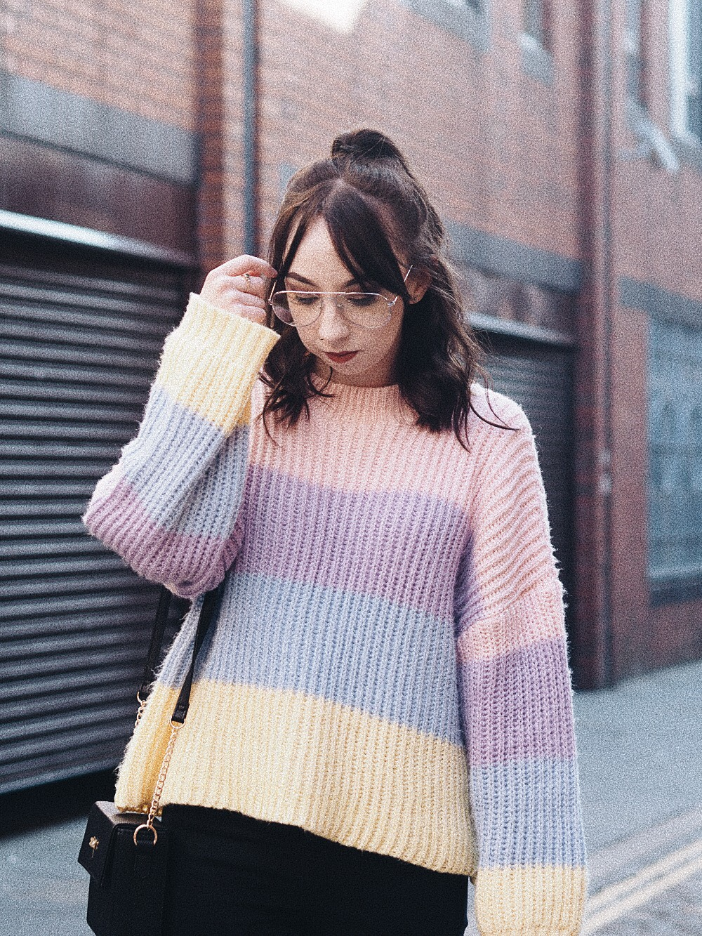 the multi coloured sweater i can't get enough of missguided personal style fashion 4