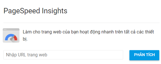Tăng tốc website với Google PageSpeed Insights