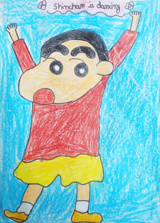 Caricature: Dancing Shinchan : डांसिंग शिनचेन