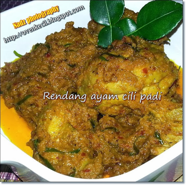 CUTE OVEN, SMALL KITCHEN: RENDANG AYAM CILI PADI