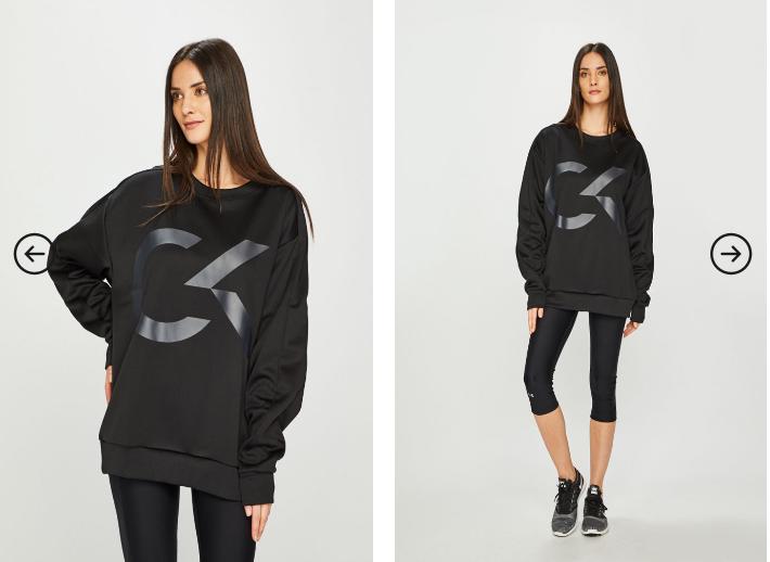 Bluza femei originala Calvin Klein Performance neagra pret mic online
