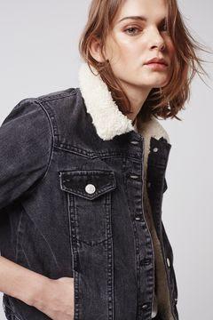 Petite Moto borg western jacket, $110 by Topshop