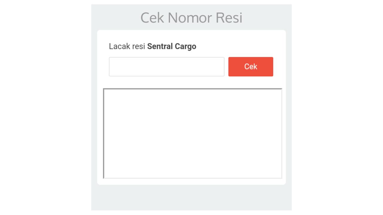 Cek Resi Jasa Pengiriman Sentral Cargo