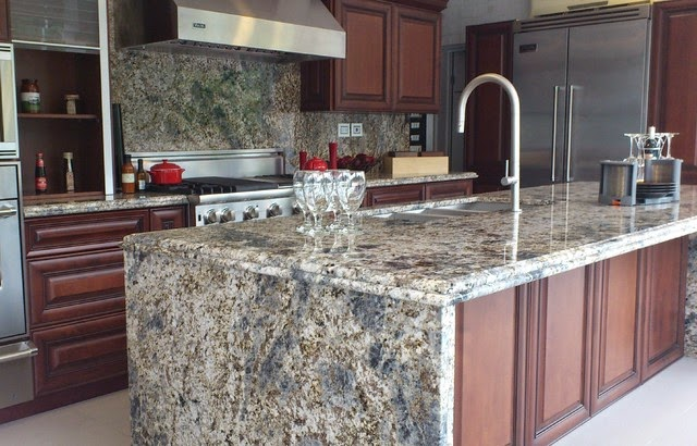 The Above Kitchen Islands Are Not To Be Confused With Very Por Granite Countertop Edge Called Waterfall These Edges Fabricated
