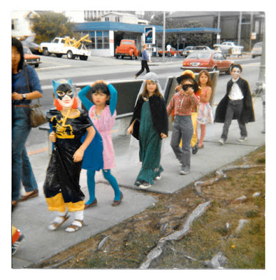 The annual Halloween Parade outside PIedmont Avenue School in the early 1980's.