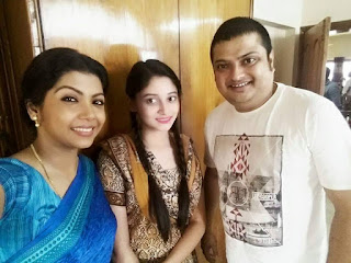 Puja Cherry Roy with Sushoma Sarkar and Biswanath Basu (Bengali Actor)