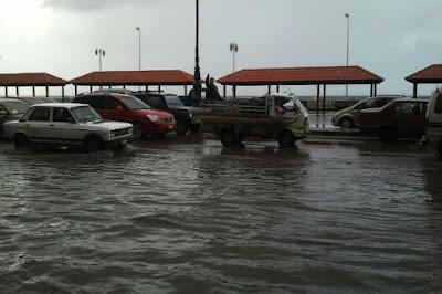 الأمطار في الاسكندرية, صعقا بالكهرباء, ماس كهربائي, مصرع شخص, الطقس,