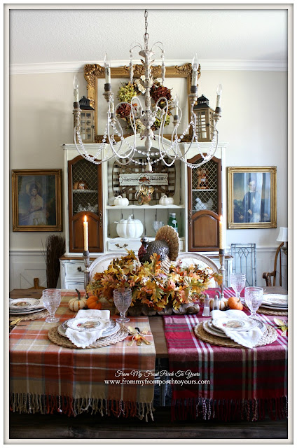 Farmhouse -Thanksgiving-Tablecape- Fall- Dining Room-From My Front Porch To Yours
