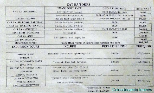 Horarios del ferry a de Cat Ba