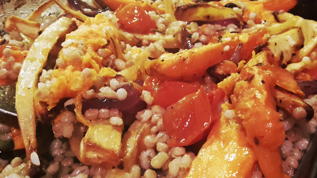 Project 366 2016 day 312 - Vegan warm root vegetables and grain salad // 76sunflowers