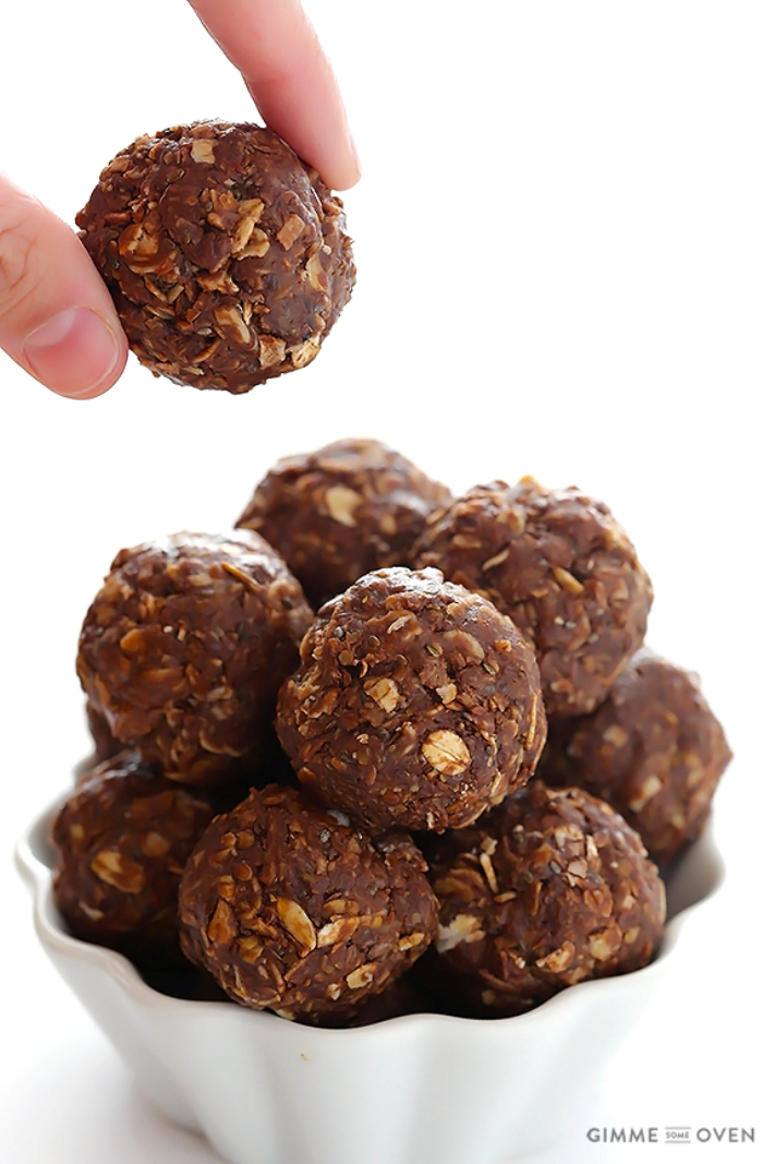 Chocolate energy balls plus 30 Real Food Gluten Free Recipes to Fuel Your Next Run or Workout! Natural energy to fuel you for a run or even sustain you after!