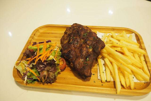 Baby Back Ribs - Special BBQ Marinade with Fries and Salad — S$24