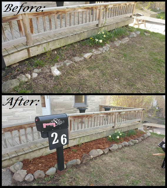 front garden before and after