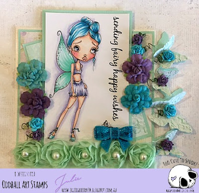 Fay the Fancy Fairy Limited Edition Rubber Stamp - Oddball Art Stamps