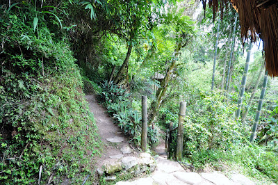 Narrow trails inside Tam-awan Village