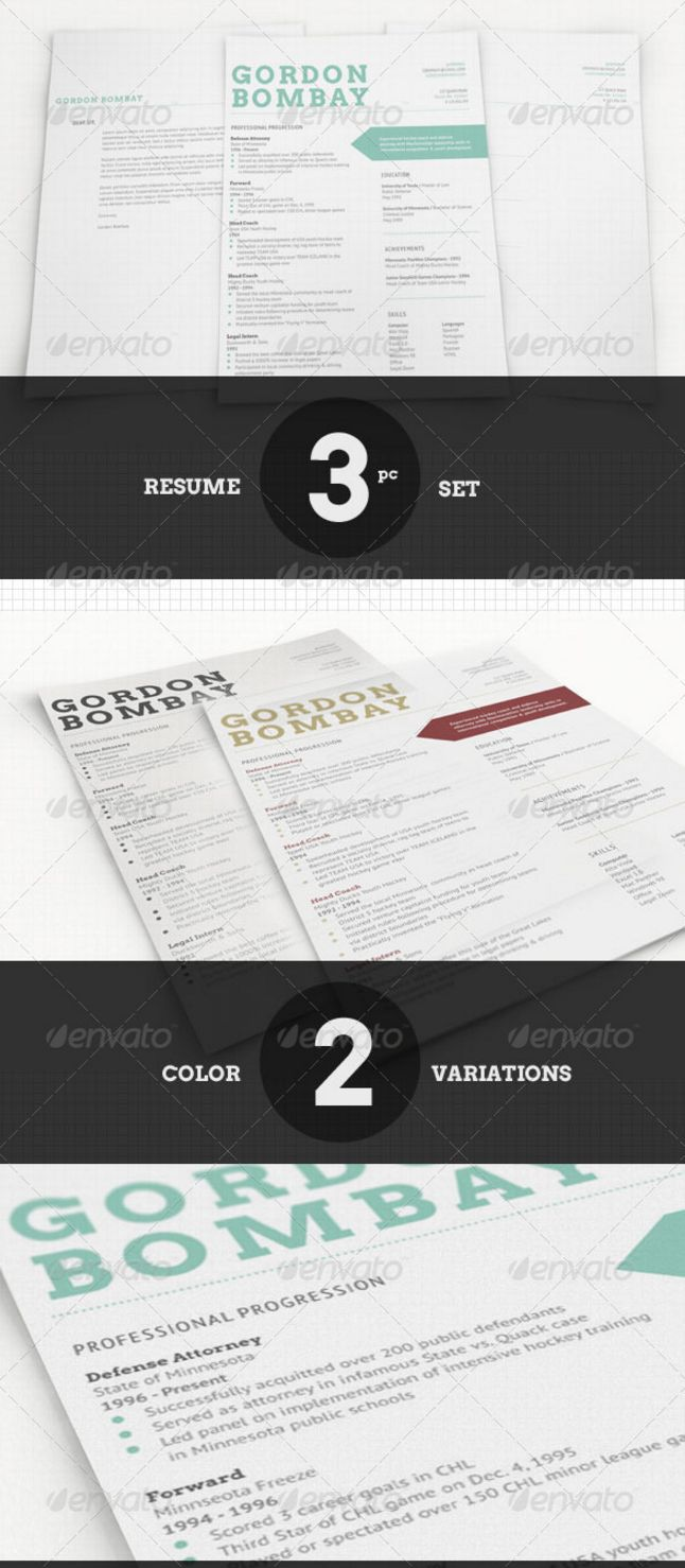 Resume Cv Templates In Indesign Word Psd Download  DesignsmagOrg