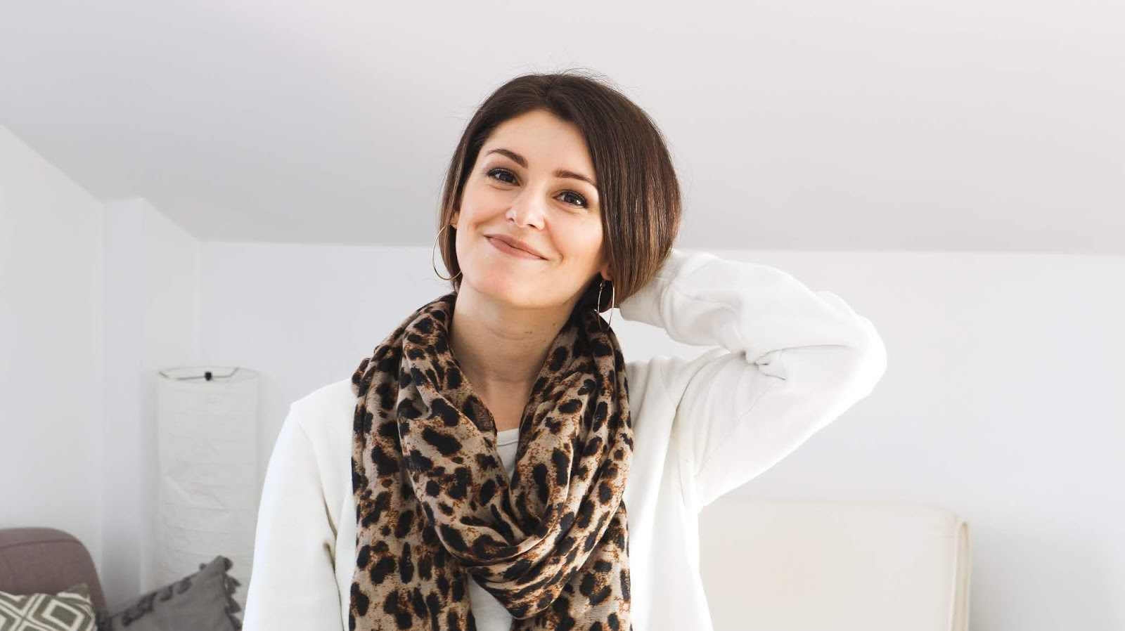 leopard print scarf outfit