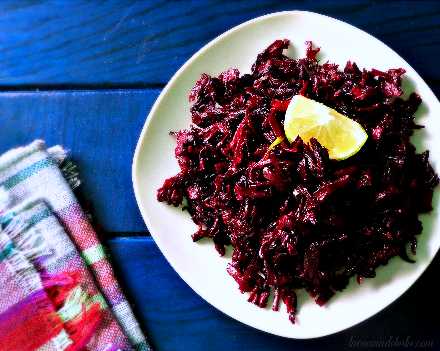 Rehydrated Hibiscus Flowers - lacocinadeleslie.com