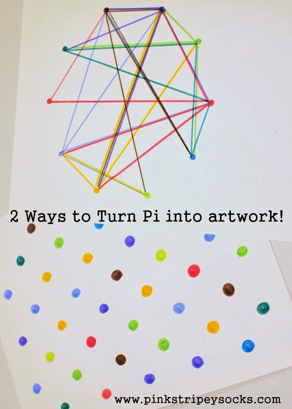 two ways to turn Pi into artwork- pi day activity