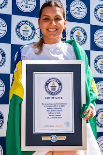 Maya Gabeira confirmed as the Largest wave surfed by a woman