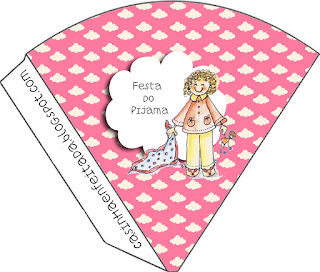 Pyjama Party  Free Printable Cones.
