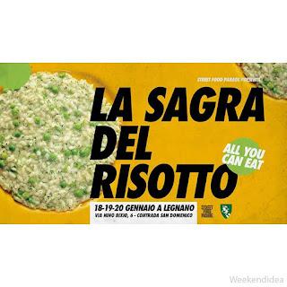 """Sagra del risotto """"all you can eat"""" 18-19-20 gennaio Legnano (MI)"""