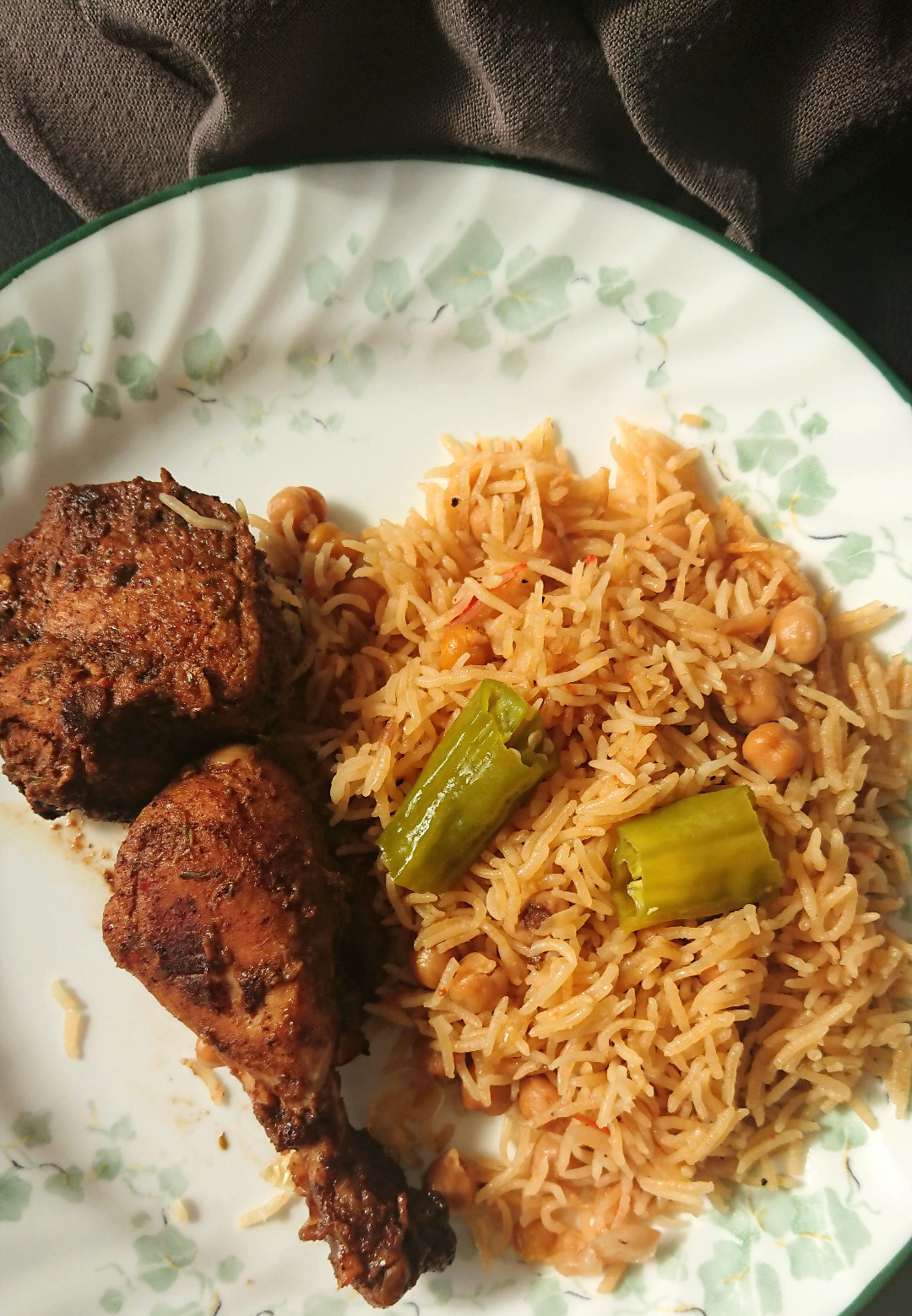 allergy friendy chana pulao with chicken