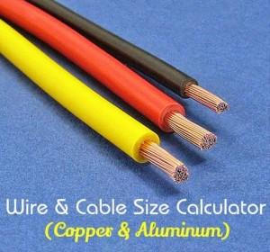 Wire & Cable Size Calculator (Copper & Aluminum)