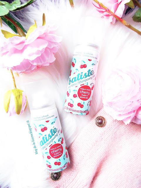 Batiste Fragrance Cherry suchý šampón pre objem a lesk recenzia