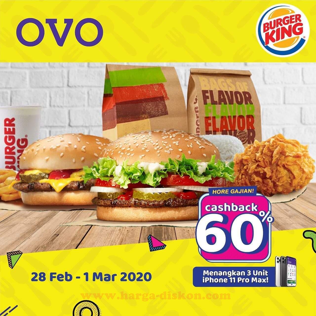 Promo Burger King Cashback 60 Dengan Ovo Periode 28 Februari 1 Maret 2020 Harga Diskon
