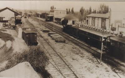 El tren y sus infraestructuras en Binéfar