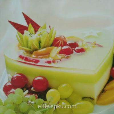Resep Honey Green Pudding