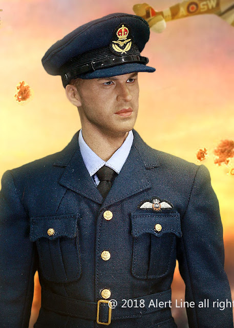 osw.zone Alert Line 1 / 6th WWII Royal Air Force Fighter pilot 12-inch figure aka Tom Hardy in Dunkerque