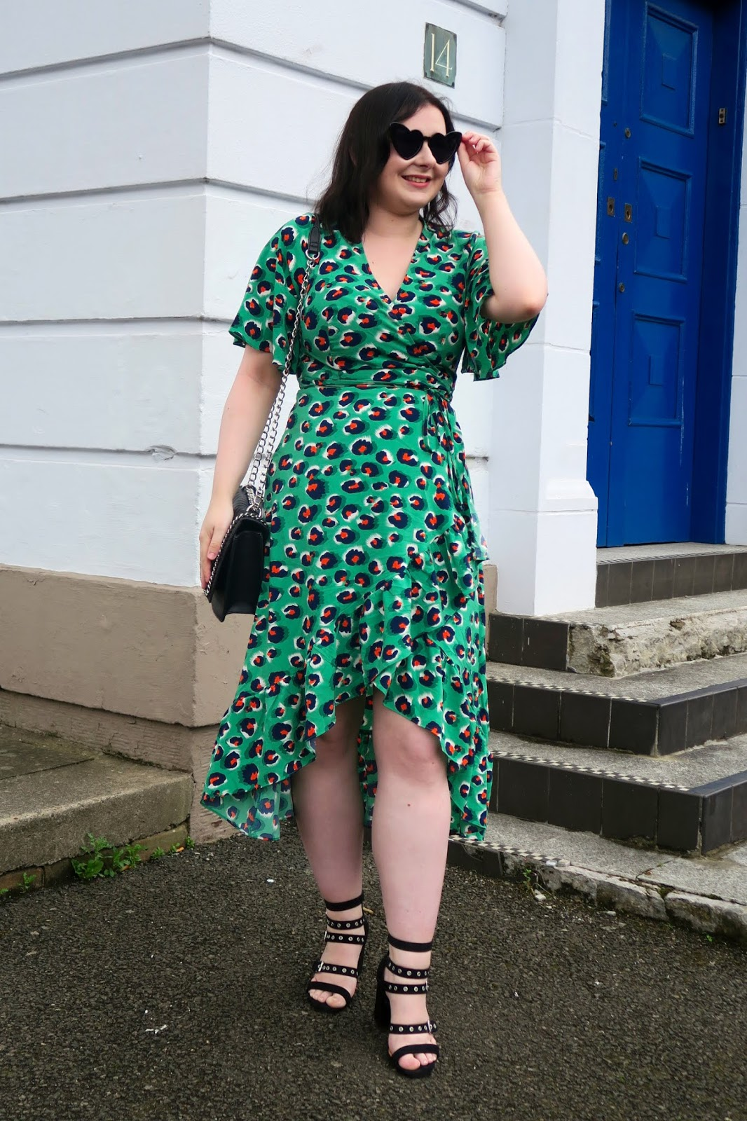 How to wear leopard print- leopard midi dress