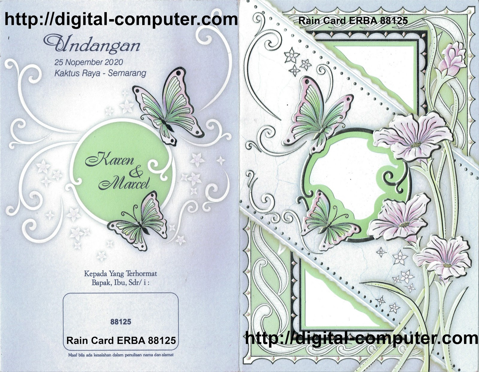 Undangan Softcover ERBA 88125
